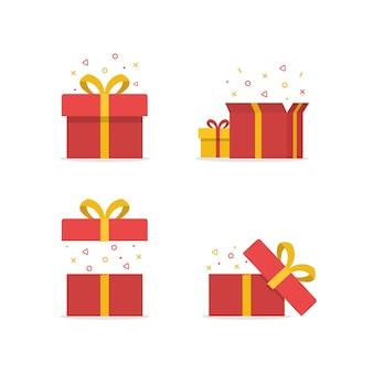 Concetto di idea regalo sorprendente set regaloconfezione regalo
