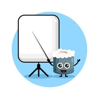 Il sushi diventa un simpatico personaggio insegnante logo