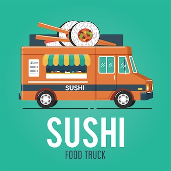 Sushi food truck