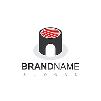 Ispirazione per il design del logo della casa di sushi