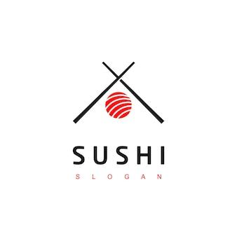 Simbolo del cibo asiatico del logo del sushi