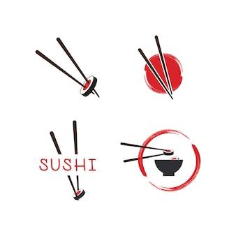 Modello di logo di sushi
