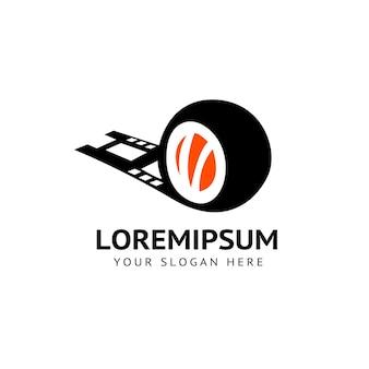 Logo delle immagini del film del rotolo di sushi