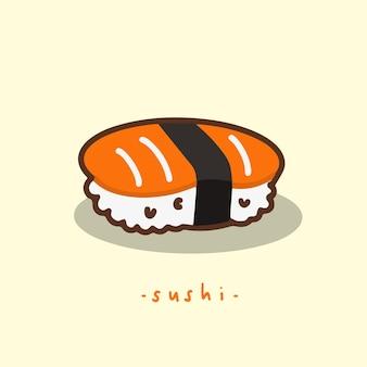 Simbolo del sushi cibo giapponese illustrazione vettoriale