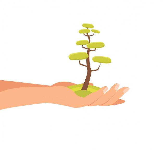 Illustrazione di vettore piatto di ambiente sostenibile