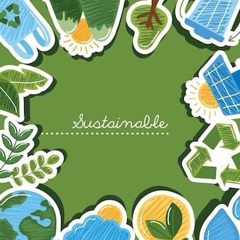 Collezione di icone sostenibili