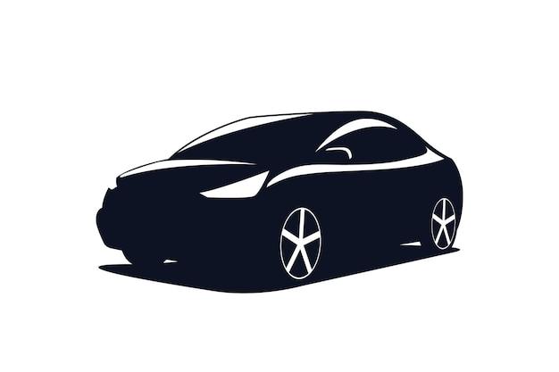 Sagoma di auto suv. modello per il logo. illustrazione vettoriale.