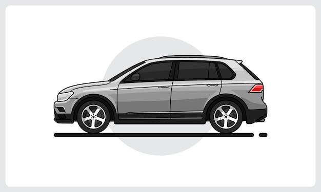Vista laterale dell'auto moderna suv facilmente modificabile