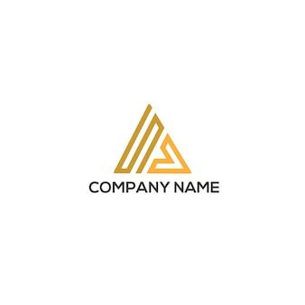 Modello di logo triangolo sv