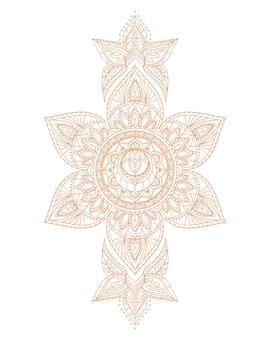 Svadhisthana sacral yoga chakra mandala. illustrazione