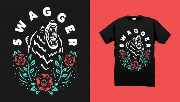 Swagger bear tshirt design