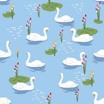 Modello di lago dei cigni