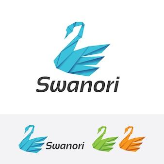Modello di logo vettoriale swan