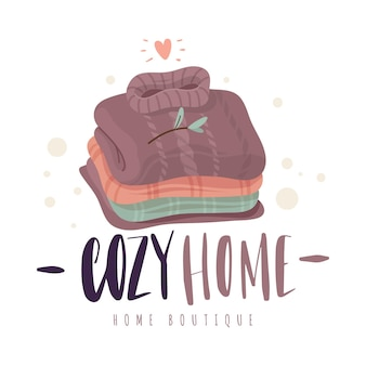 Pila di maglioni. accoglienti vestiti in maglia di lana piegata, comfort scandinavo, tessuti naturali, pullover invernali retrò. concetto