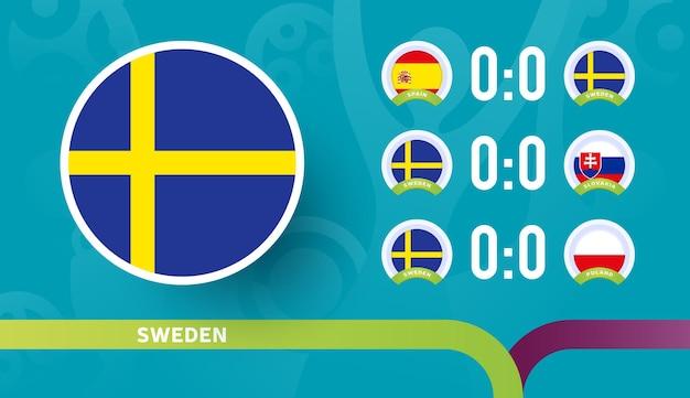 La nazionale svedese programma le partite della fase finale del campionato di calcio 2020