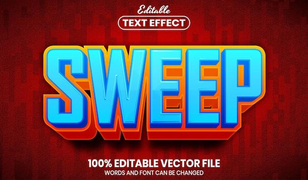 Sweep di testo, effetto di testo modificabile in stile carattere