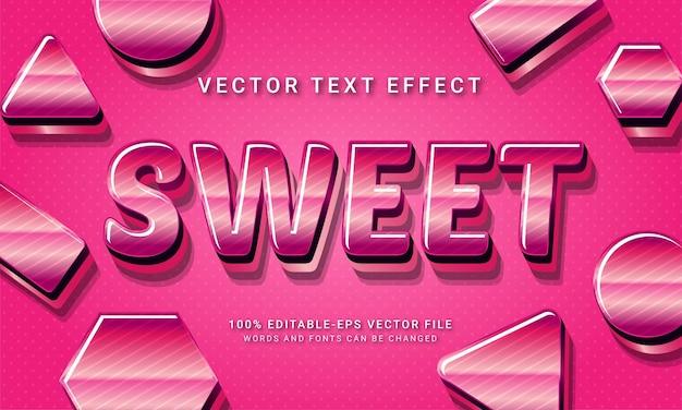 Dolce effetto stile testo modificabile in 3d