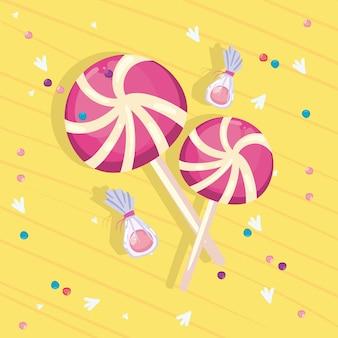 Disegno di caramelle dolci