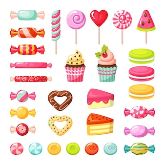 Caramella dolce. lecca-lecca colorati deliziosi gustosi dolci caramello frutti.