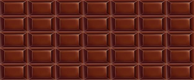 Modello di cioccolato dolce fatto di barrette di cioccolato. seamless pattern di cioccolato