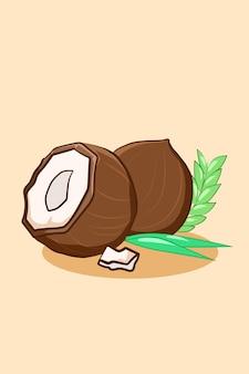 Illustrazione del fumetto dell'icona di cocco dolce