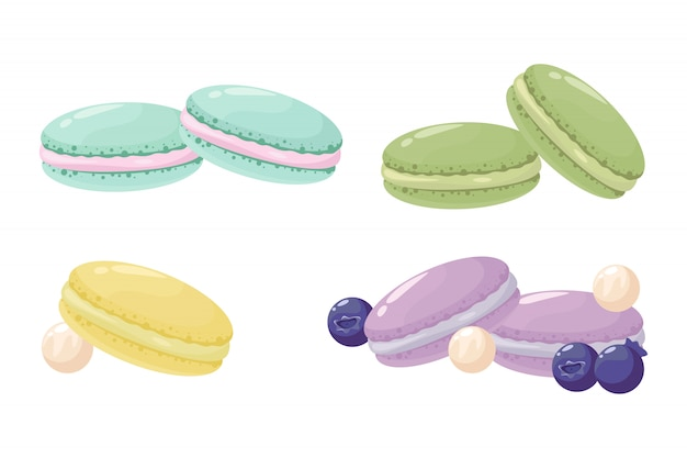 Dessert di macarons dolci