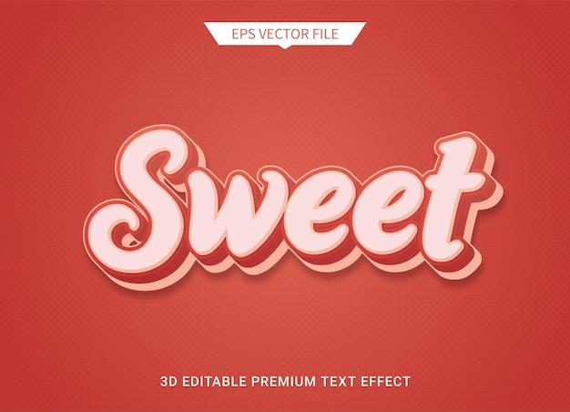 Effetto stile testo modificabile 3d rosso dolce