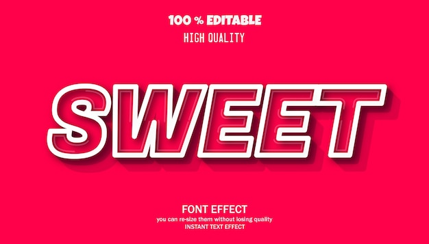 Carattere modificabile effetto testo dolce