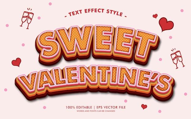 Lo stile dolce degli effetti del testo di san valentino