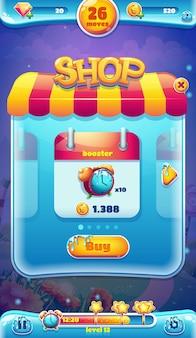 Sweet world mobile gui negozio di videogiochi web sullo schermo