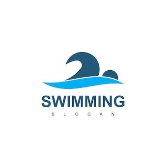 Ispirazione per il design del logo per il nuoto