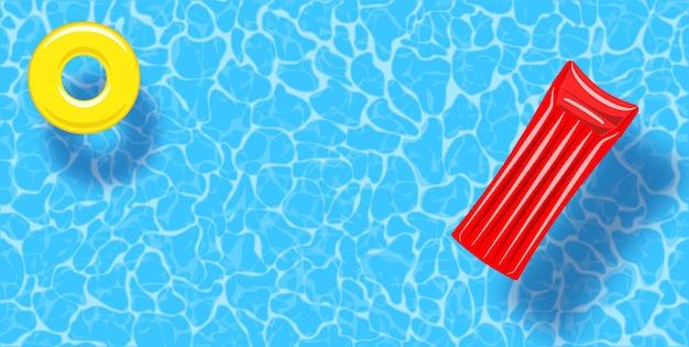 Vista dall'alto della piscina