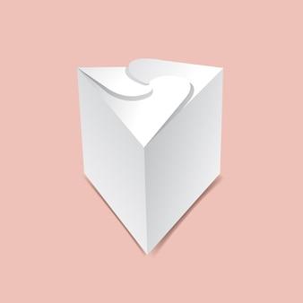 Scatola a triangolo ricciolo mock up