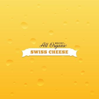 Sfondo di formaggio svizzero