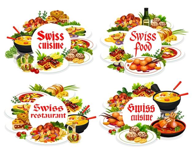 Torta di formaggio con cornici rotonde di cucina svizzera