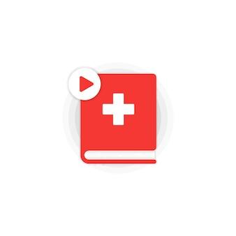 Set di icone del corso online di lingua svizzera. educazione a distanza. dizionario svizzero. audiolibri.