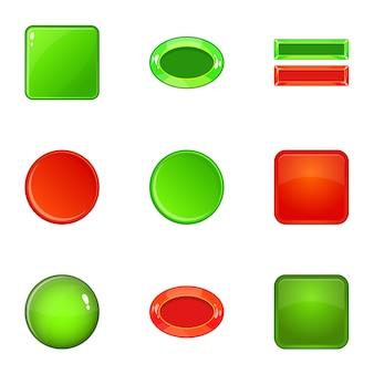 Switch set di elementi, stile cartoon