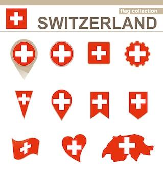 Collezione di bandiere della svizzera, 12 versioni