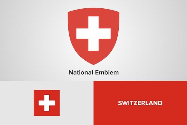 Modello di bandiera nazionale dell'emblema della svizzera