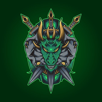 Illustrazione del drago di spada