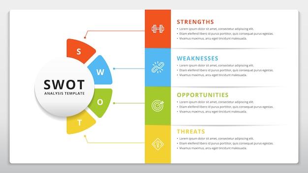 Modello swot o progettazione infografica di pianificazione strategica
