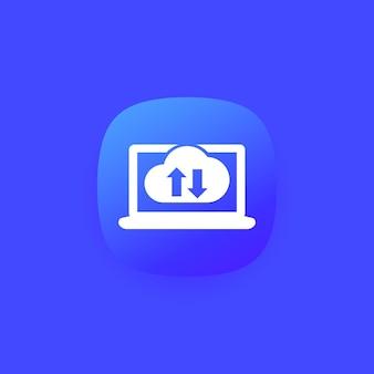 Sincronizzazione con cloud, icona di sincronizzazione per app e web