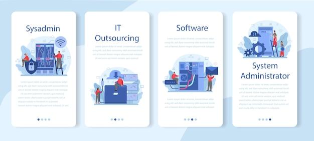 Set di modelli di applicazioni mobili dell'amministratore di sistema.