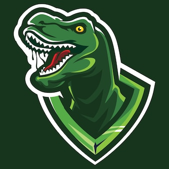 T-rex esport logo illustrazione