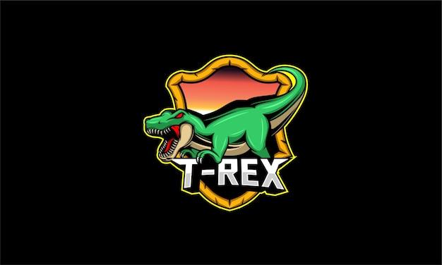 Logo della mascotte di t rex