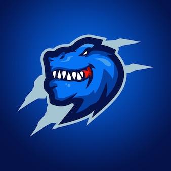 Logo della mascotte di t-rex