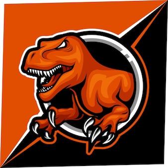 T rex mascotte per logo sport ed esport