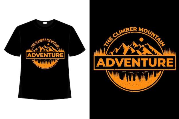 T-shirt avventura mountain pine climber vintage