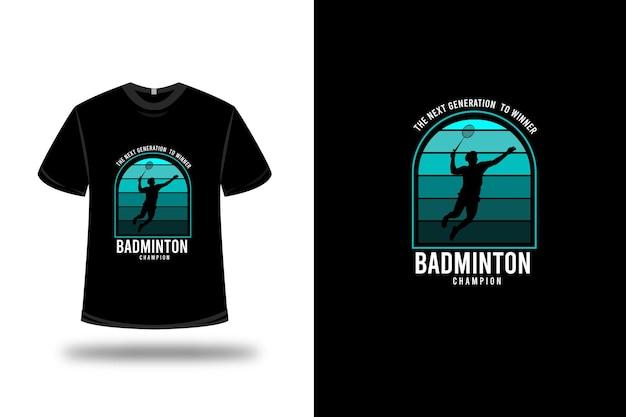 T-shirt badminton colore verde e bianco