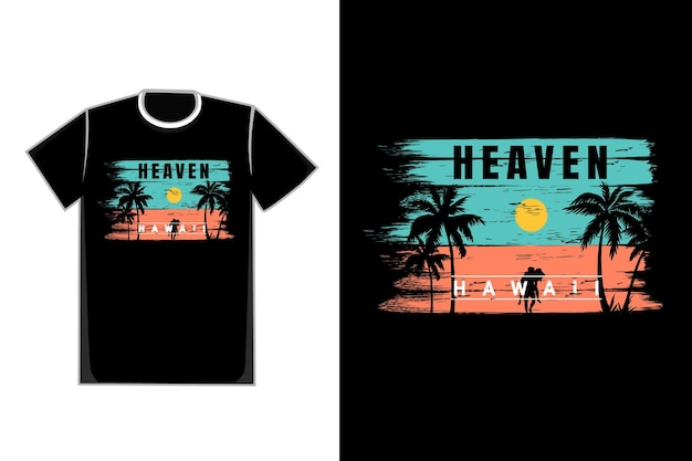 T-shirt pennello spiaggia hawaii bel sole